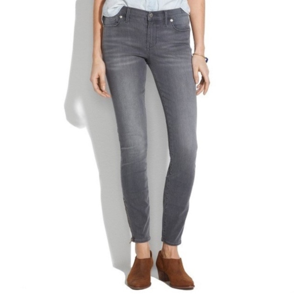 Madewell Denim - Madewell gray stretchy high rise skinny jeans